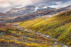 挪威秋天风景 免版税图库摄影