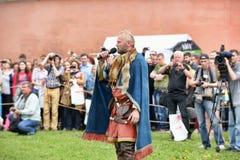 挪威语北欧海盗在圣彼德堡 免版税库存图片