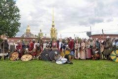 挪威语北欧海盗在圣彼德堡 免版税库存照片