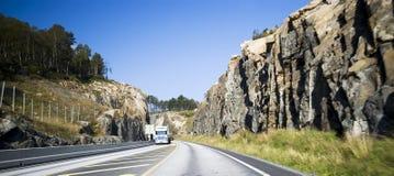 挪威路 库存图片