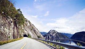 挪威路 免版税库存图片