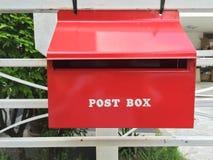 挪威邮箱红色travle 免版税图库摄影