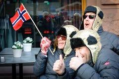 挪威金子庆祝在奥斯陆 免版税库存照片
