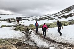 挪威雪远足 库存照片