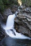 挪威露台的瀑布 免版税库存照片