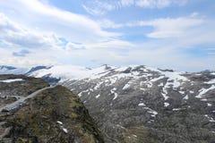 挪威风景在Geiranger,挪威 库存照片