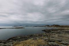 挪威风景多云天 免版税图库摄影