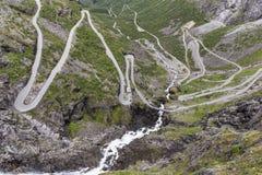 挪威风景路线- Trollstigen 免版税库存照片