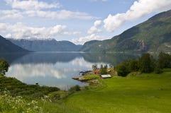 挪威风景sognefjord 免版税库存照片