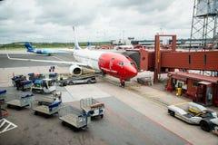 挪威飞机 库存照片