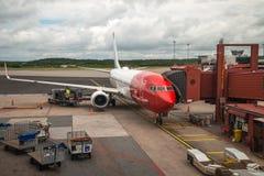 挪威飞机 免版税图库摄影