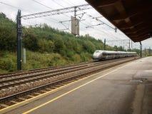 挪威高速火车 库存照片