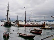 挪威,在港口Bygdoy的奥斯陆视图 免版税库存图片