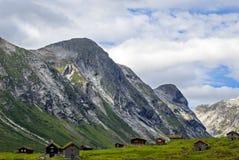 挪威,惊人的横向 库存照片