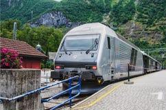 挪威, FLAM铁路火车 库存图片
