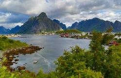挪威, Lofoten海岛 免版税图库摄影