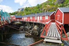 挪威, Nusfjord海岛  库存照片