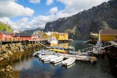 挪威, Nusfjord海岛  免版税库存图片