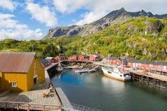 挪威, Nusfjord海岛  图库摄影