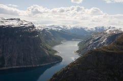 挪威, Trolltunga 库存照片