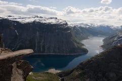 挪威, Trolltunga 免版税库存照片