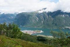 挪威-大海湾panaramic视图 库存图片