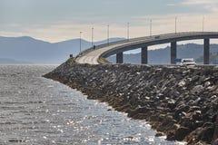 挪威 大西洋路 在海运的桥梁 旅行欧洲 库存图片