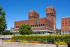 挪威 奥斯陆市政厅  库存图片