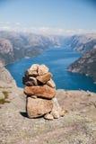 挪威-海湾 库存照片
