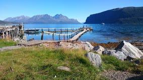 挪威2016年Uloybukta海湾 库存照片