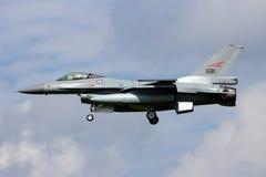 挪威AF F-16 免版税库存图片
