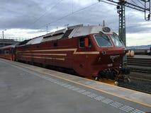 挪威DI4机车 免版税库存照片