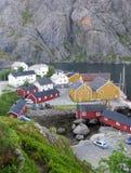 挪威Lofoten Nusfjord 免版税库存照片