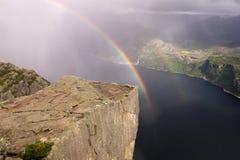 挪威preikestolen 免版税库存照片