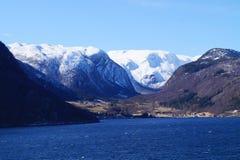 挪威sognefjord 免版税库存图片