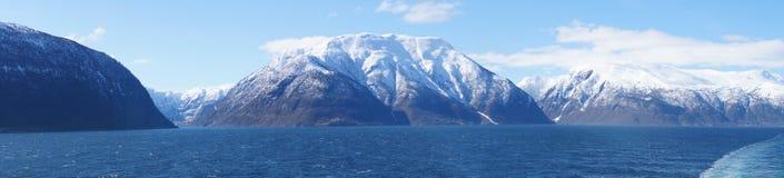 挪威sognefjord 免版税库存照片