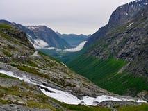 挪威Trollstigen 免版税库存图片