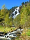 挪威tvinde瀑布 免版税库存照片