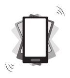 振动智能手机 免版税库存照片