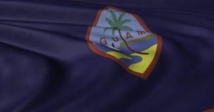 振翼在轻风的关岛旗子 库存照片