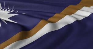振翼在轻风的马绍尔群岛旗子 免版税库存图片