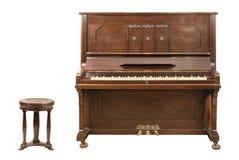 挺直的钢琴 免版税库存照片