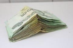 挽救泰国的金钱货币 库存图片