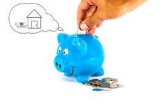 挽救金钱为最佳的将来 免版税库存图片