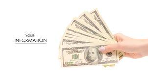 捆绑在手样式的金钱美元 免版税库存照片
