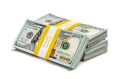 捆绑100张美元2013年编辑钞票 图库摄影