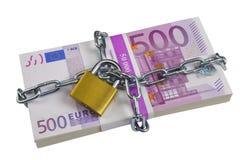 捆绑欧元钞票 免版税库存照片