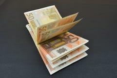 捆绑欧洲钞票 库存图片