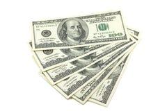 捆绑票据以一百美国美元 免版税库存照片