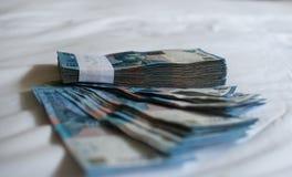 捆绑钞票 图库摄影